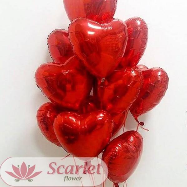 Шар сердце фольгированный с гелием