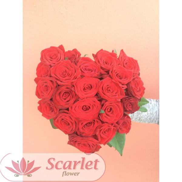 Букет Сердце 25 роз