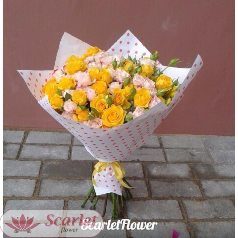 Букет с цветами Солнечный зайчик