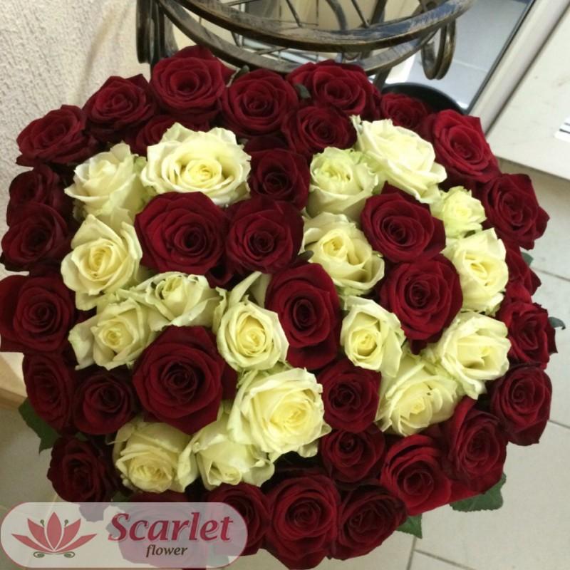 Букет 51 роза (50)